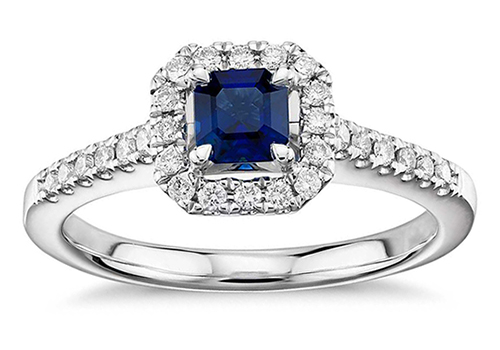 Gemstone engagement ring